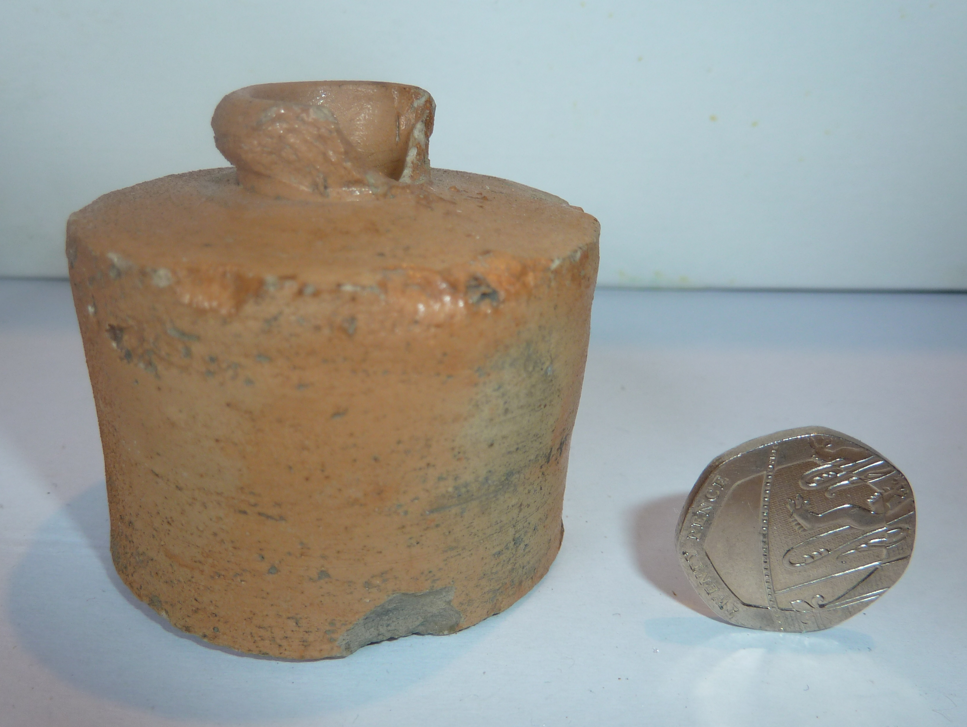Early Stoneware Ink Bottle