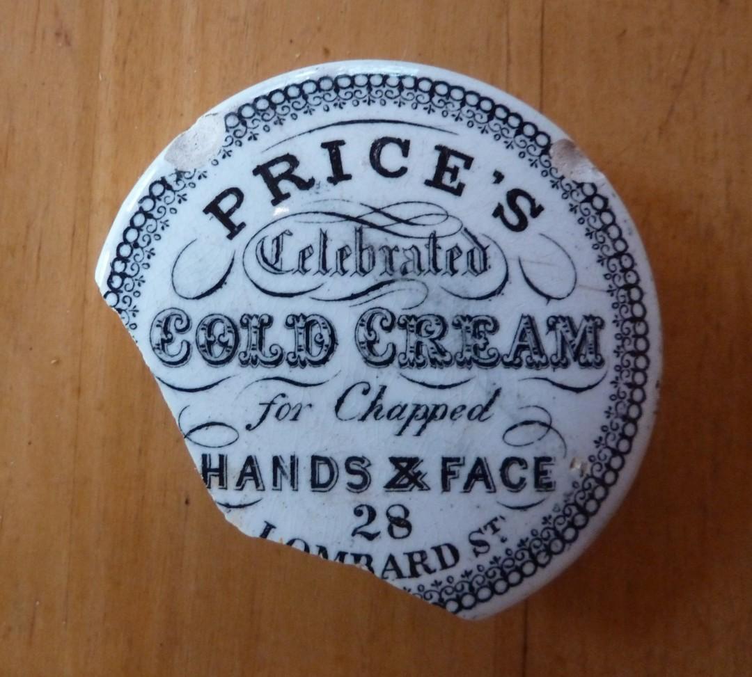 Cold Cream Pot Lid