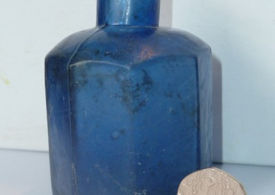 Blue Glass Ink Bottle