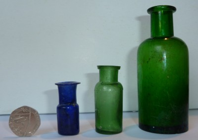 Small Green Medicine Bottles