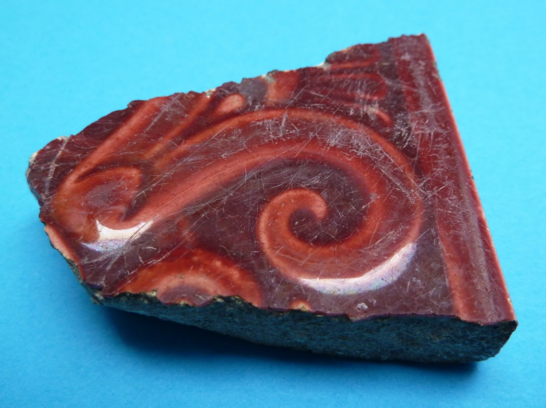 Red Majolica Tile