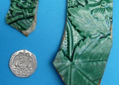 Green Majolica Plates