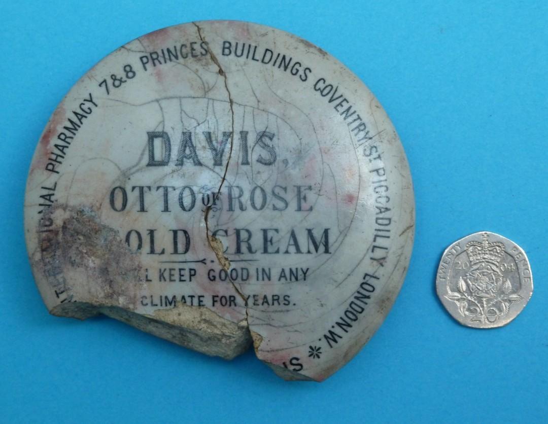 Otto of Rose Cold Cream Pot Lid