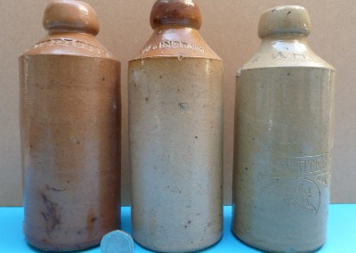 Stoneware Ginger Beer Bottles