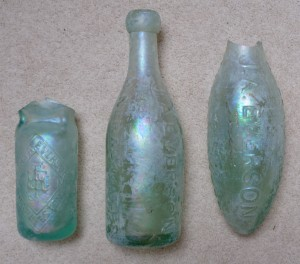 Everson's bottles for his own mineral water