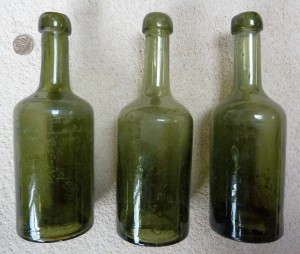 German mineral water bottles