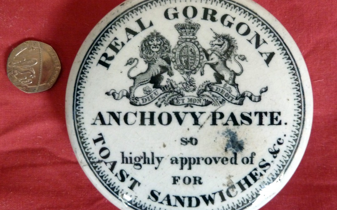 Gorgona Anchovy Paste Pot Lid