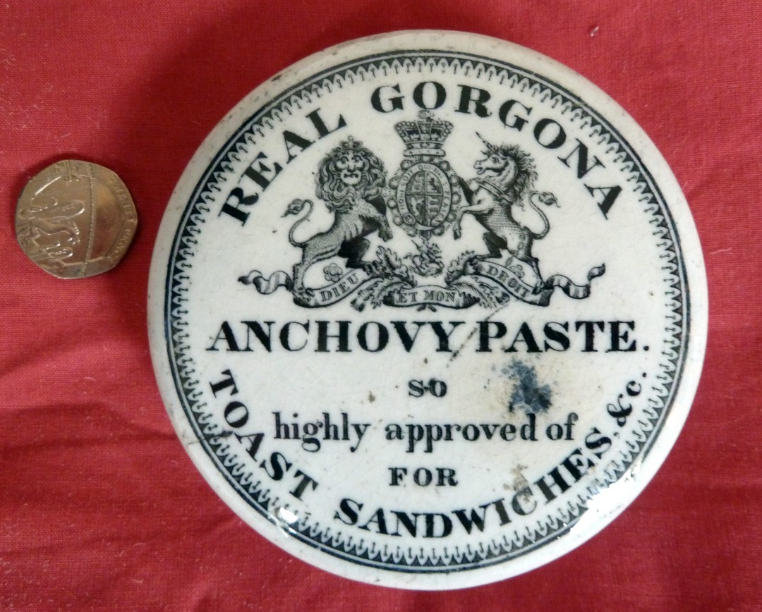 Gorgona Anchovy Paste Pot Lid