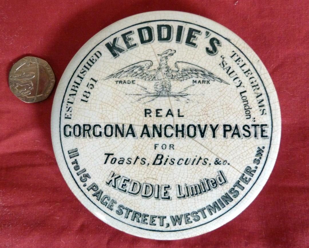 Keddie's Anchovy Paste Pot Lid