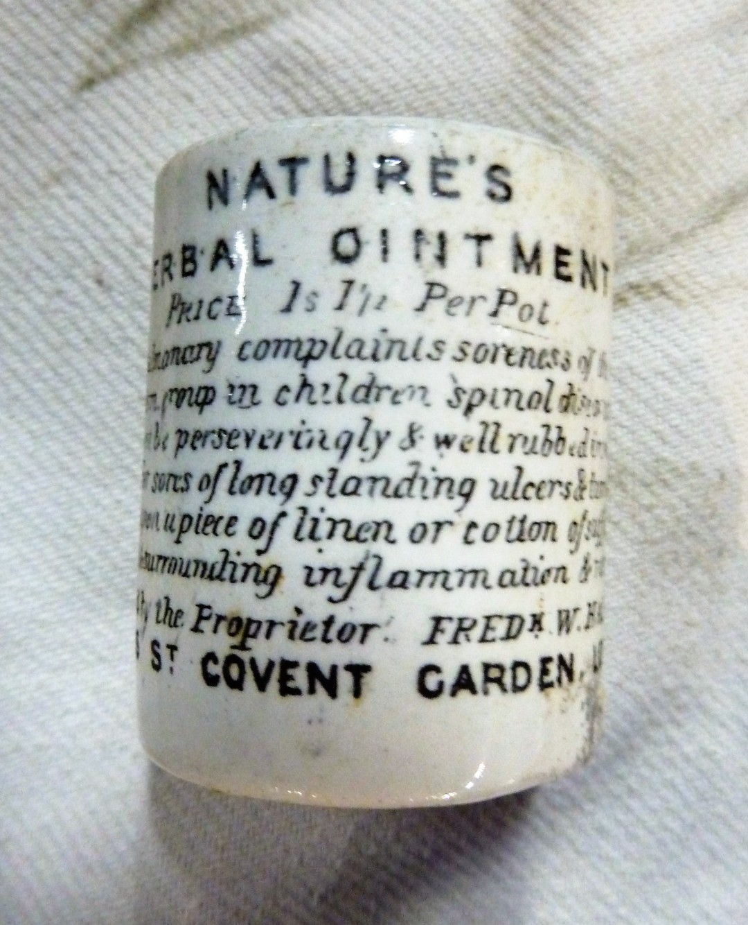 Nature's Herbal Ointment pot