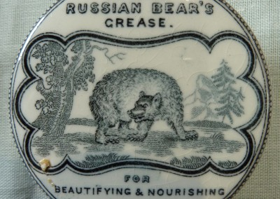 Russian Bear's Grease Pot Lid
