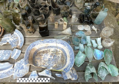 Assorted glass and ceramic waste 1870s