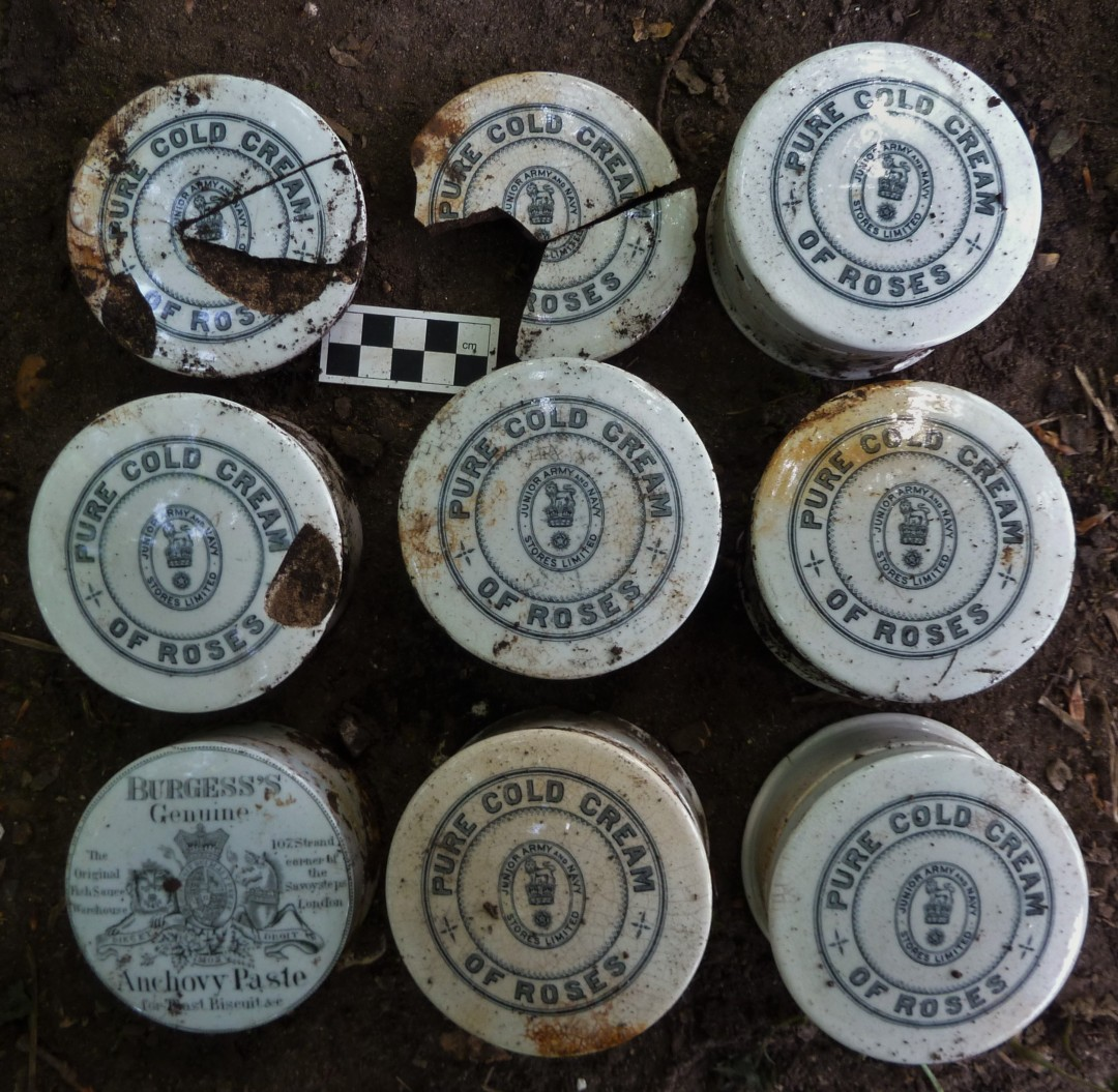 Army and Navy Cold Cream pots