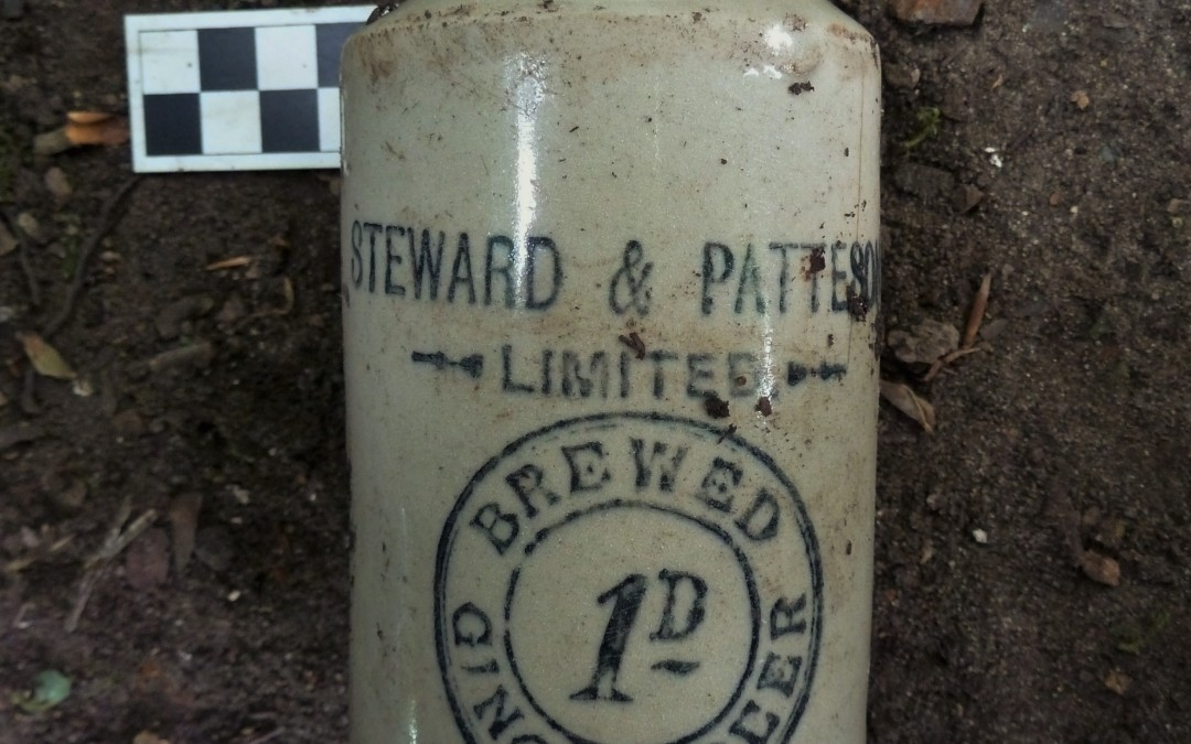 Steward and Patteson ginger beer bottle
