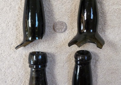 English wine bottle necks