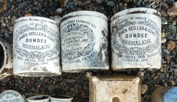 Three Dundee Marmalade Jars