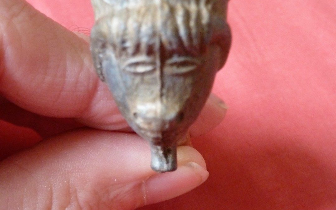 Buffalo clay pipe