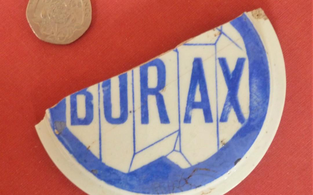 Borax pot lid (underside)