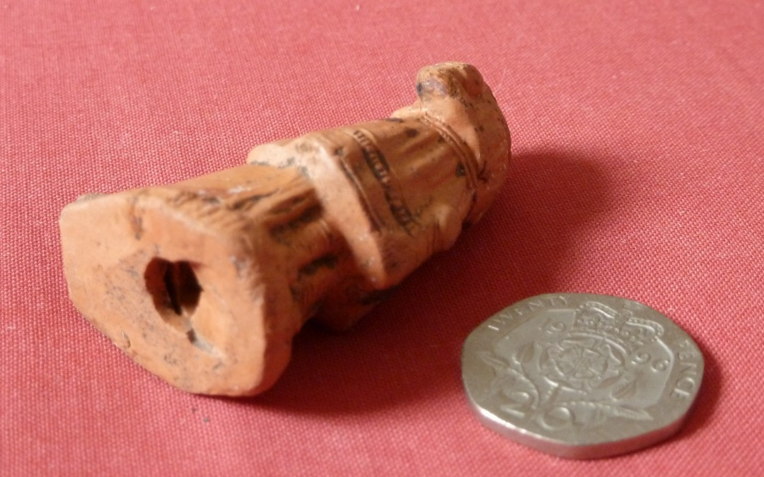 Toy terra cotta whistle