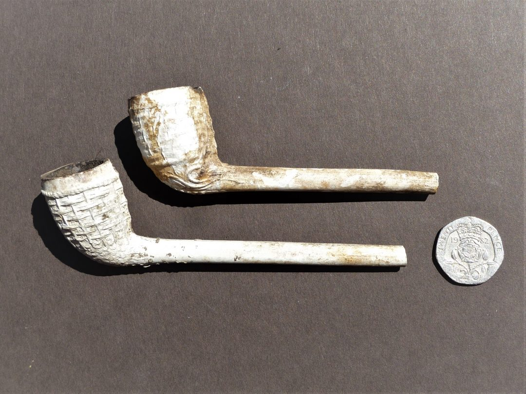 Clay tobacco pipes