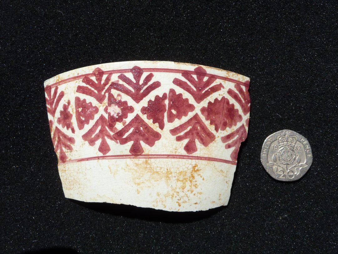 Sponge-printed bowl