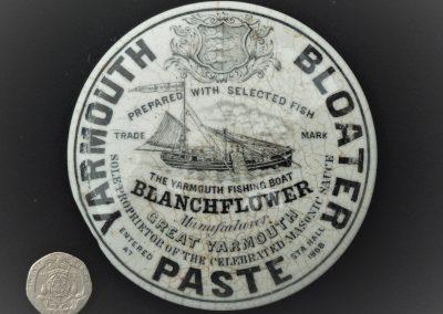 Pot lid for Blanchflower's Yarmouth Bloater Paste