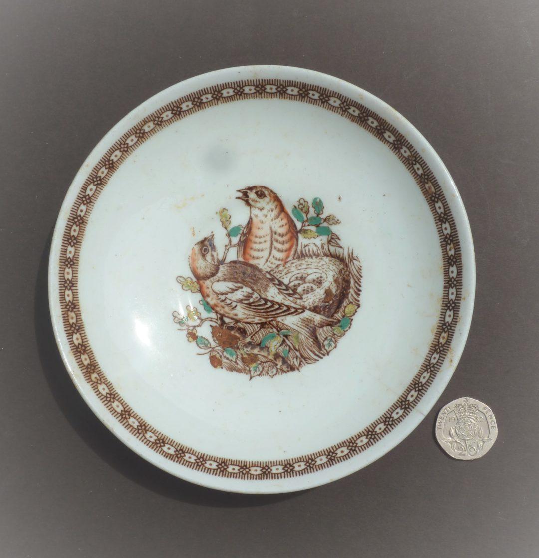 Saucer – birds on a nest